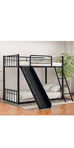 Low Bunk Beds with Slide