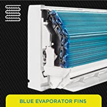 Blue Evaporator Fins