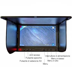 100FT Cavo//Telecamera di ispezione Grande con Monitor LCD da 7 Pollici Telecamera CCD Sony 1000TVL per fogna di Tubi TIANG Telecamera di ispezione dellendoscopio IP68 Impermeabile con DVR 30M
