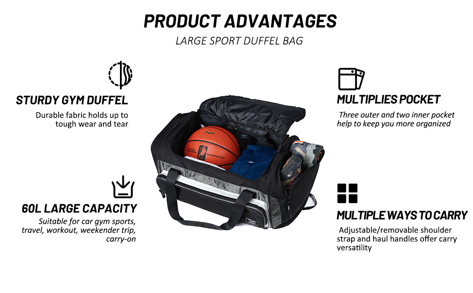 details for mier duffel bag