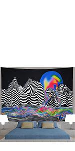 Zebra Mountain Sun Tapestry