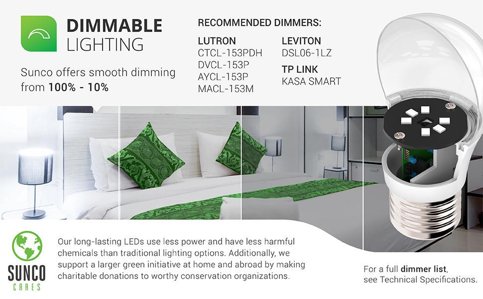 A15 LED Bulb, Dimmable, 800 LM, E26 Base, Refrigerator & Fan Light - UL, Energy Star