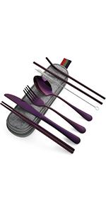 8-piece Purple