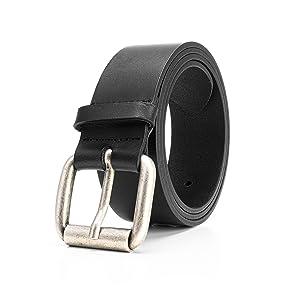Cintura uomo elegante in vera pelle cinta artigianale classica casual nera cuoio