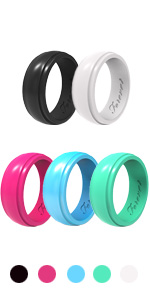 silicone wedding bands rings for women hers mom mother fiance lady bands rubber silicon nurse