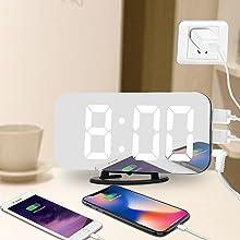 black digital alarm clock for bedrooom