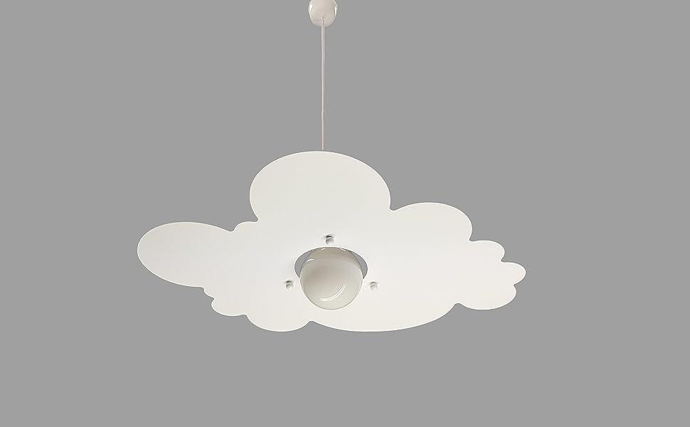 Lampadari Per Camerette Neonati.Lampadario Per Cameretta Stanzetta Bambini Nuvola Bianco Amazon It Illuminazione