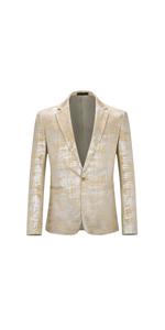 mens silver dress suit jacket slim fit sport coat one button no vent