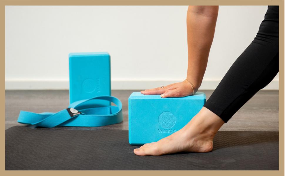 Ladrillo Yoga Bloques para Ejercicio y Pilates Yoga Block Espuma Eva Yamkas Bloque de Yoga  1 o 2 Piezas
