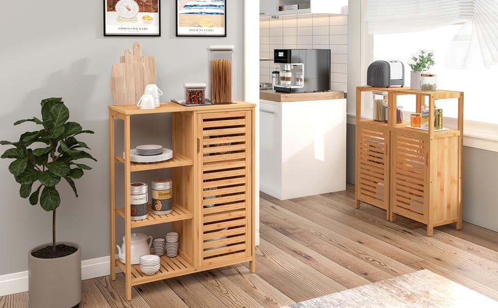 kitchen storage cabinet bathroom furniture cupboard bathroom storage organizer standing shelf