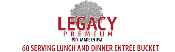 Legacy Premium's 60 Serving Lunch & Dinner Entree Bucket - Gourmet Dehydrated and Freeze-Dried Food