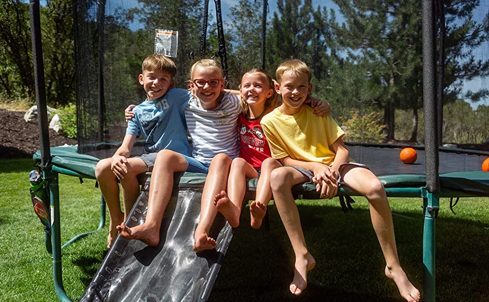No Trampoline Is Complete without a slide