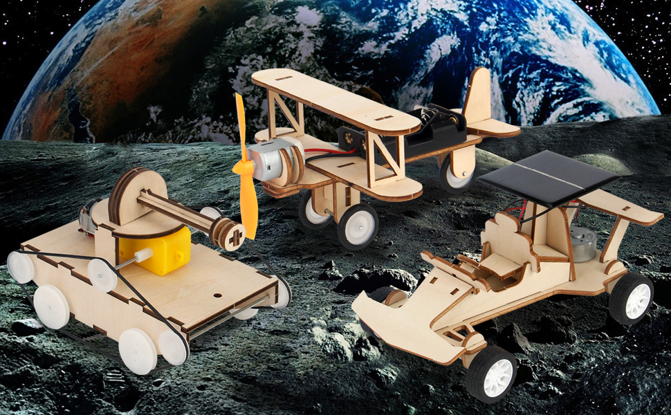 3d wooden puzzle solar power kit-1