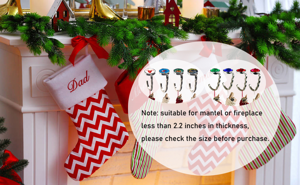 stocking holders for mantle set 4