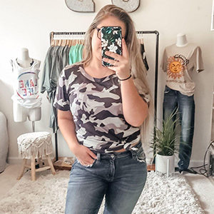 floral t shirts for women