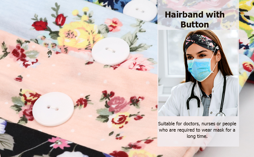Hairband with Button