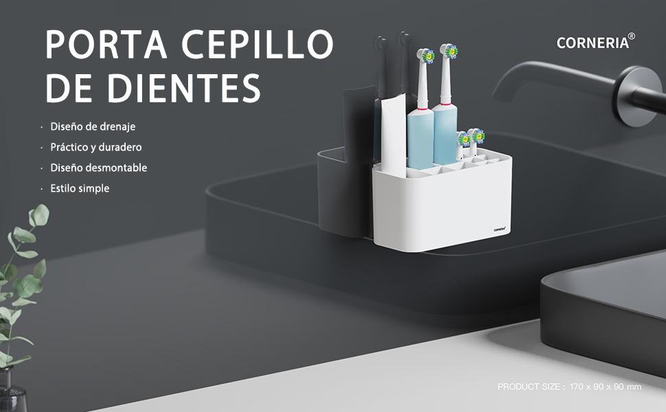 organizador baño portacepillos portacepillos dientes pared soporte cabezales oral soporte cepillos