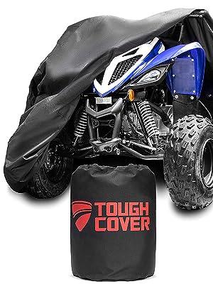 ATV and four-wheeler cover made from heavy duty 600D marine-grade fabric