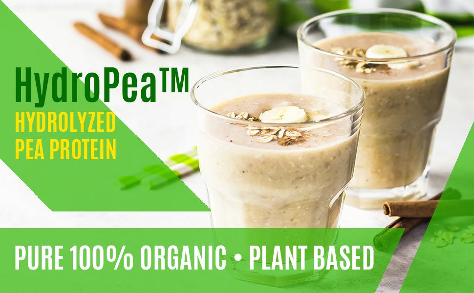 organic pea protein powder plant based hydrolyzed vegan