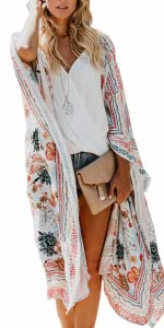 boho long kimono cardigan dusters