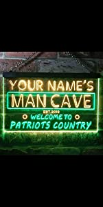 ADVPRO LED neon sign Personalized fonts text dual-color bright light man cave patriots country