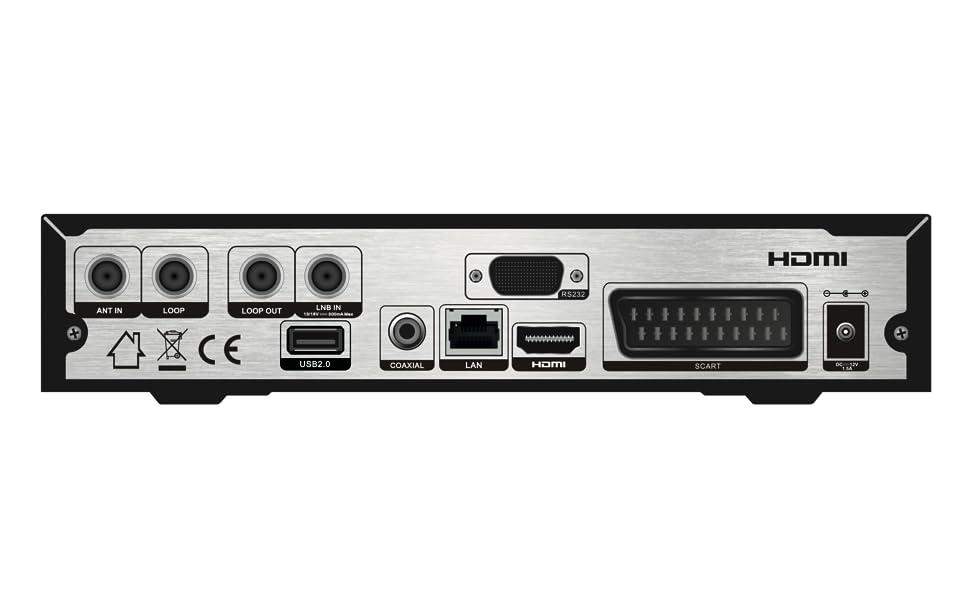 Viark Combo - Receptor Satélite Combo Full HD DVB-S2 Multistream + T2/C H.265/HEVC, con LAN, Antena WiFi USB y Lector de Tarjetas CA