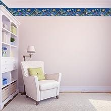 kids bedroom nursery room playroom decorative wall border