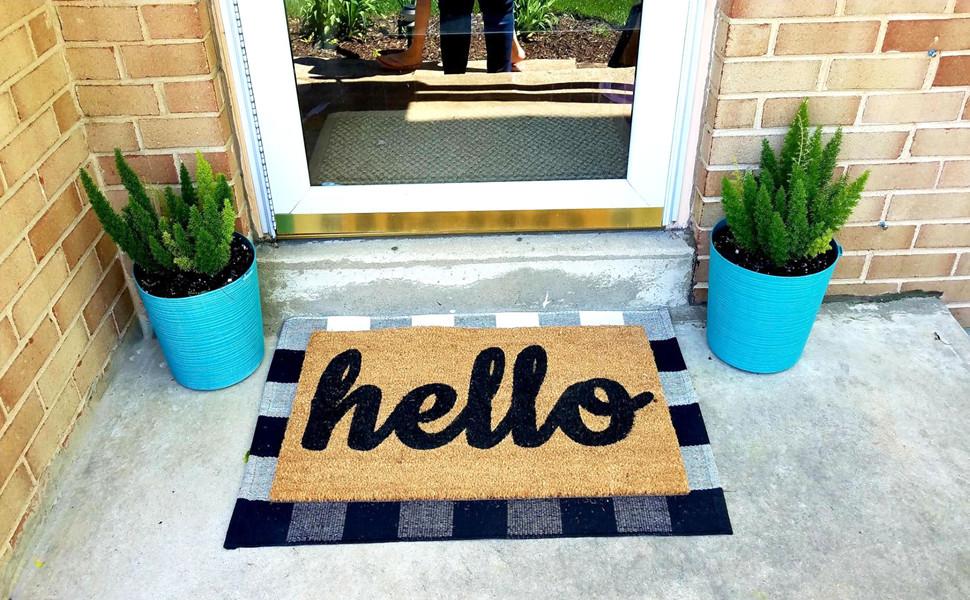 layered doormats