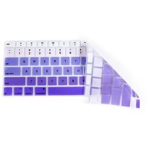 Rainbow Purple keyboard covers for macbook A2179