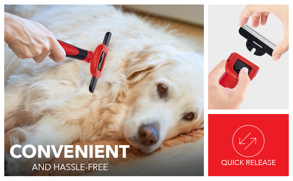 Convenient and Hassle Free; Quick Release button