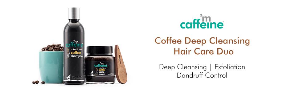 mCaffeine Coffee Deep Cleansing Hair Care Duo Deep Cleansing, Exfoliation, Dandruff Control