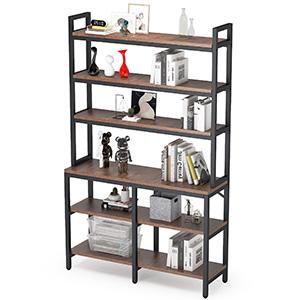 6-tier bookcase bookshelf