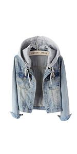 women's denim jacket with hood