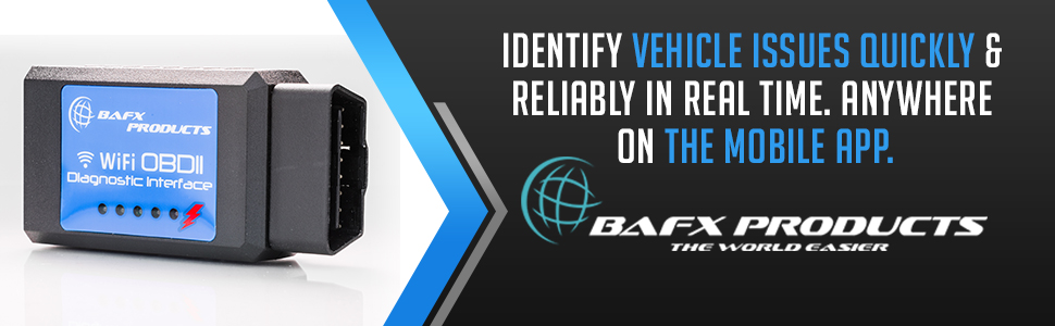 BAFX Products Bluetooth OBDII (OBD2) Reader / Scanner for Android or Windows- product plugged in car