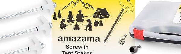 HEAVY DUTY CARAVAN CAMPING AWNING GAZEBO TARPAULIN TENT SCREW PEG STAKE ANCHOR
