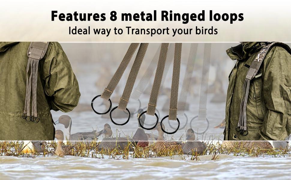 8 metal rings
