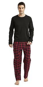 Amaxer Men's 100% Cotton Pajamas Plaid Pants