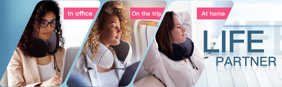 Memory Foam Neck Pillow for Airplane