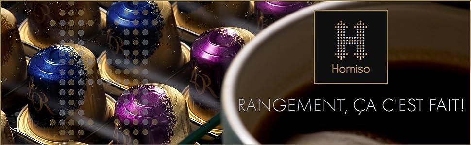 Homiso Porte Dosette de Café Dolce Gusto Compatible Rangement pour Capsule de Café, 36x Capsules