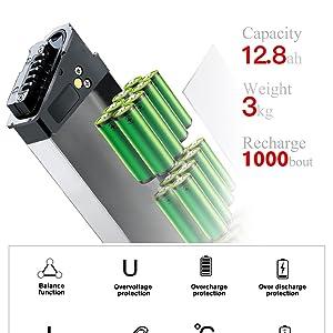 48 V 12.8 Ah lithium battery
