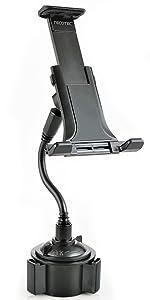 2 in 1 Gooseneck Car Cup Holder Phone Mount for Tablet amp; Cellphone
