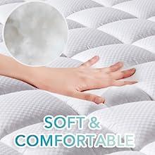 Soft  twin xl mattress pad, high quality twin xl size mattress pad,the best twin xl size bedding