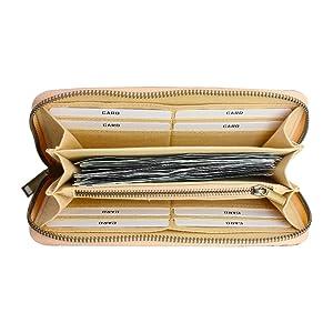 Vegane Wallet aus Korkleder Florina Kork Geldb/örse f/ür Damen Gro/ß mit RFID Schutz Geldbeutel und Portemonnaie mit Blumenmuster