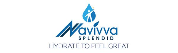 navivva splendid water bottle 2 litre logo