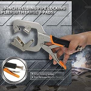 welding clamp/c clamp/pipe pliers/welding/vise grip pliers/vice grip clamps/Welding Pipe Plier
