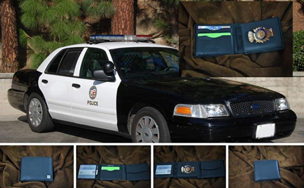 Zerimar Cartera Cuerpos Seguridad | Portaplaca Desmontable | 6 Compartimentos | Cartera Portaplaca | Color: Negro | Medidas: 8,5 x 12,5: Amazon.es: Equipaje