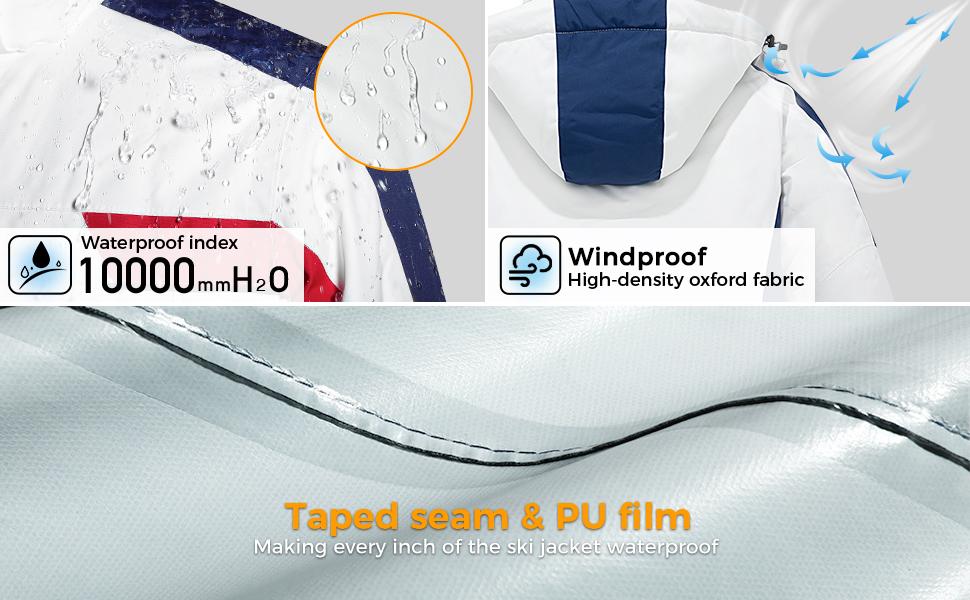 Wantdo Men's Waterproof Ski Jacket