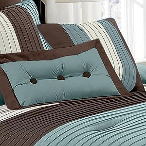 Loft matching decorative pillows close up view