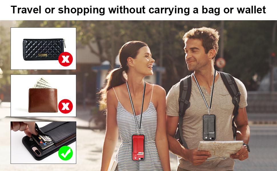 7 plus 8 plus wallet case with strap