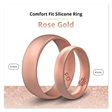 rose gold silicone ring
